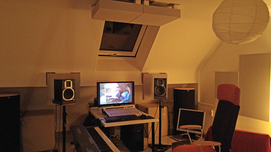 Acoustically Treated Home Recording Studio of an Audio Engineer